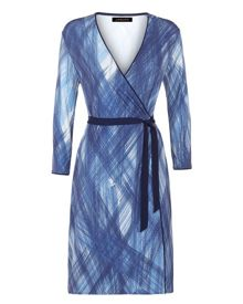 Jaeger Scratch Print Wrap Dress