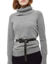 Leather Knot Front Belt