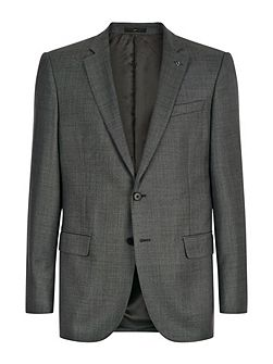 Wool sharkskin modern jacket