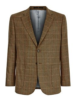 Silk check classic jacket