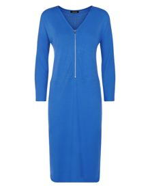 Jaeger Jersey Zip Detail Dress