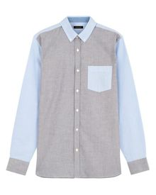 Jaeger Colour-block oxford shirt