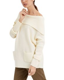 Jaeger Wool Slouchy Cowl Neck Sweater