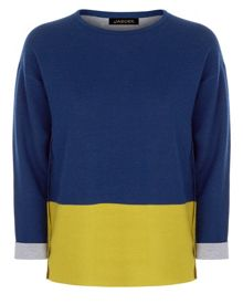 Jaeger Wool Colour Block Sweater