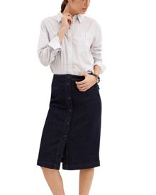 Jaeger Denim Button Through Skirt