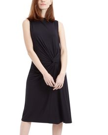 Jaeger Jersey Draped Knot Dress