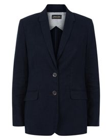 Garment Washed Linen Blazer