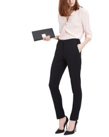 Waistband Detail Slim Trousers
