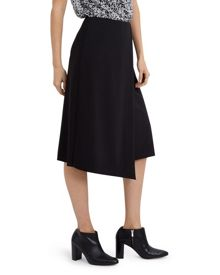 Jaeger Wool Jet Detail Wrap Skirt