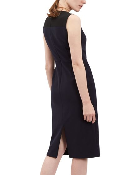 Jaeger Fitted Contrast Panel Dress