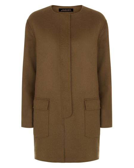 Jaeger Wool Double-Faced Duster Coat