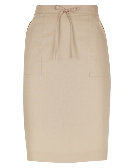 Jaeger Linen Cotton Skirt