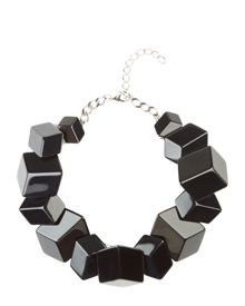Jaeger Flat Cube Cluster Necklace