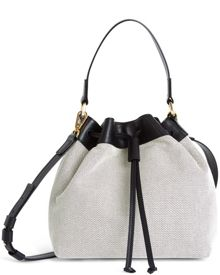 Jaeger Canvas and Leather Duffle Bag