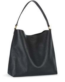 Oxford Leather Hobo Bag
