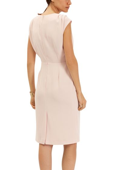 Jaeger Crepe Pleat Shoulder Dress