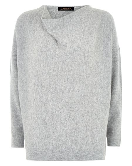 Jaeger Wool Cashmere Slouchy Sweater