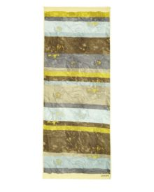 Jaeger Marble Striped Print Scarf