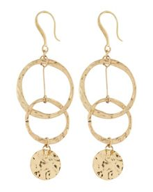 Jaeger Hammered Disc Hoop Earrings