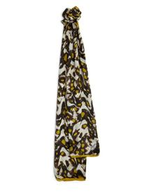 Silk Animal Print Scarf