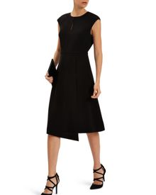 Jaeger Asymmetric Wrap Dress