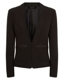 Jaeger Bouclé Jacket with Trim Detail