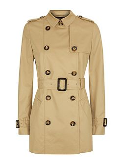 Short Classic Trench Coat