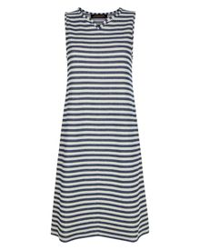 Jaeger Cotton Textured Stripe Dress