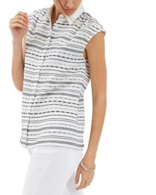 Jaeger Embroidery Stripe Shirt