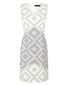 Jaeger Diamond Jacquard Dress