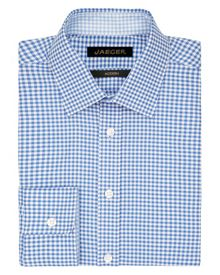 Jaeger Textured Gingham Modern Shirt