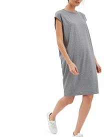 Jaeger Cotton Ribbed Panel Dress