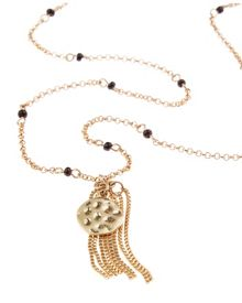 Jaeger Beaded Fine Chain Necklace