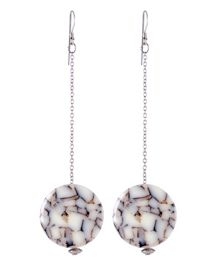 Marble Resin Drop Earrings