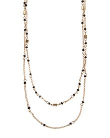 Jaeger Bead and Fine Chain Necklace