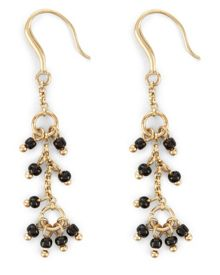 Jaeger Bead and Fine Chain Earrings