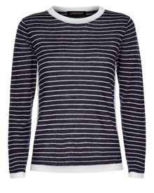 Jaeger Linen Striped Sweater