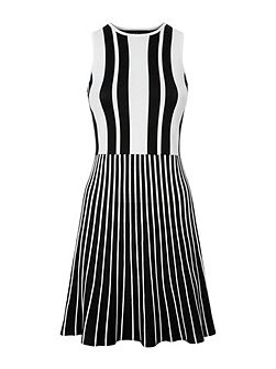 Striped Compact Knitted Dress