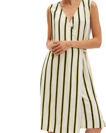 Jaeger Bi-Colour Stripe Dress