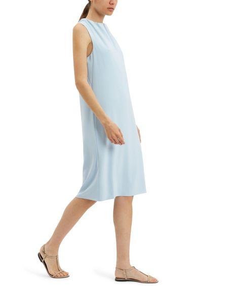 Jaeger Ruched Neck Column Dress