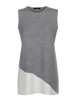 Wool Milano Colour Block Tunic