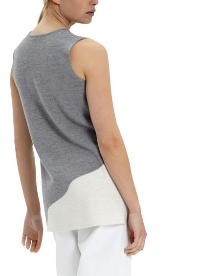 Jaeger Wool Milano Colour Block Tunic