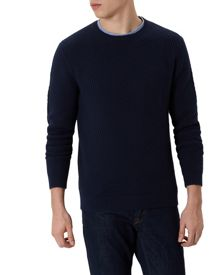 Jaeger Cotton Herringbone Jumper