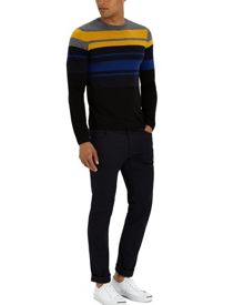 Jaeger Wool Colour Block Jumper
