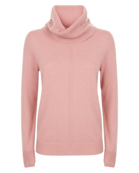 Jaeger Cashmere Cowl Neck Sweater