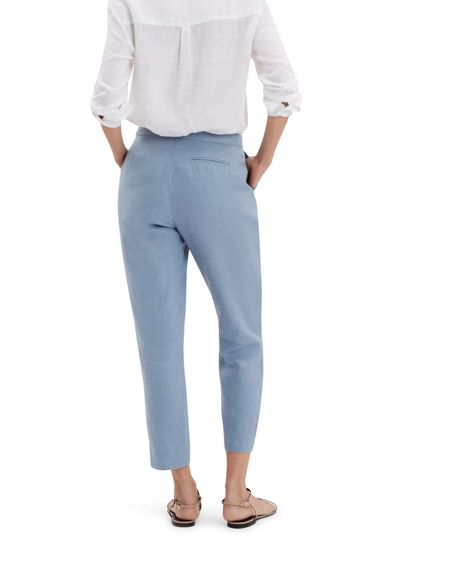 Jaeger Linen Slouchy 7/8 Chinos