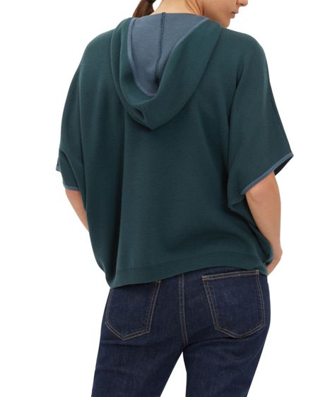 Jaeger Double-Faced Wool Hooded Cape