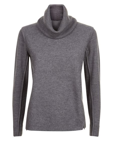 Jaeger Boiled Wool Roll Neck Sweater