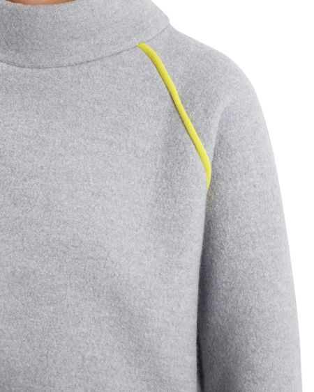 Jaeger Boiled Wool Cropped Sweater