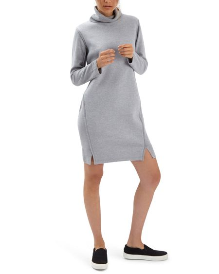 Jaeger Boiled Wool Roll Neck Dress